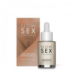 Мерцающее сухое масло-шиммер для тела и волос Slow Sex by Bijoux Indiscrets 30 мл