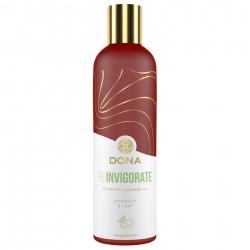 Натуральное массажное масло DONA Reinvigorate Coconut & Lime с эфирными маслами 120 мл