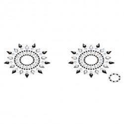Пэстис из кристаллов Petits Joujoux Gloria set of 2 Черные/Серебристые
