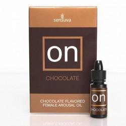 Возбуждающе капли для клитора Sensuva ON Arousal Oil for Her Chocolate со вкусом шоколада 5 мл